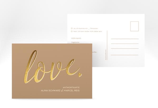 "Antwortkarte Hochzeit ""Glam"" A6 Postkarte"