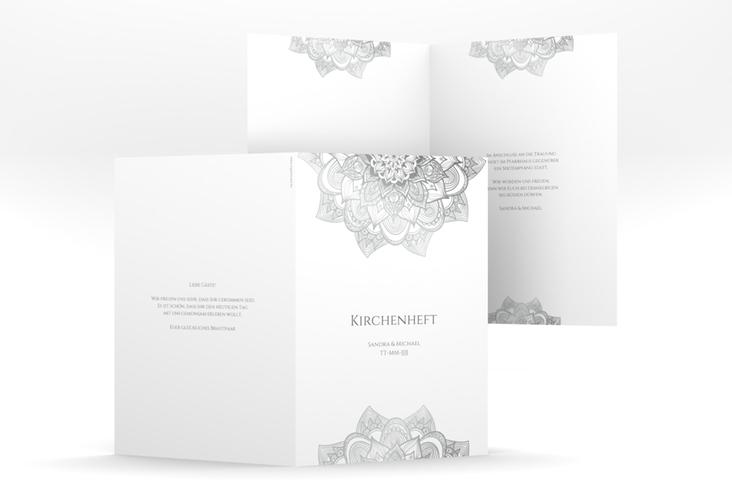 """Kirchenheft Hochzeit """"Delight"""" DIN A5 geklappt grau"""