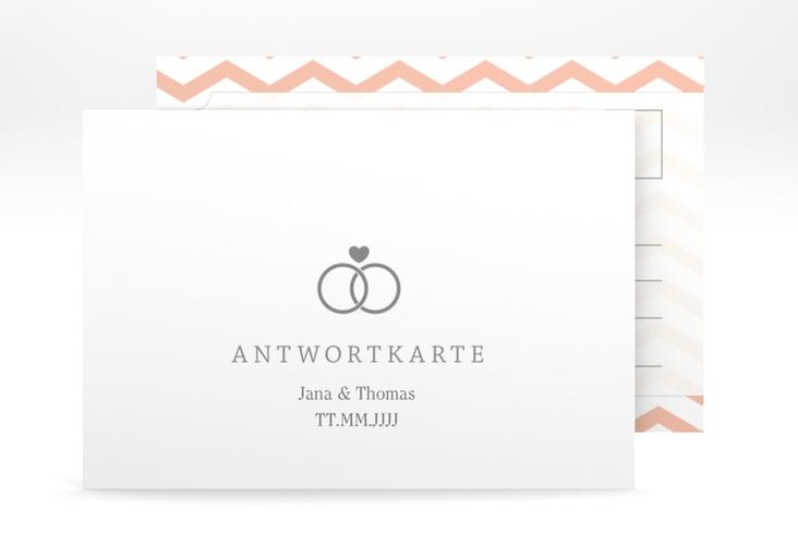 """Antwortkarte Hochzeit """"Avery"""" A6 Postkarte weiss"""