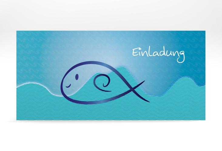"""Konfirmationseinladung """"Fisch"""" DIN lang"""