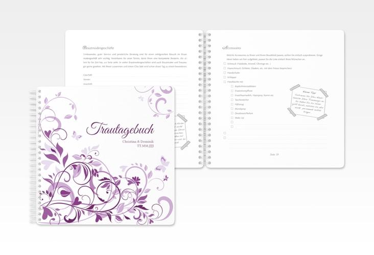 "Trautagebuch Hochzeit ""Lilly"" Trautagebuch Hochzeit lila"