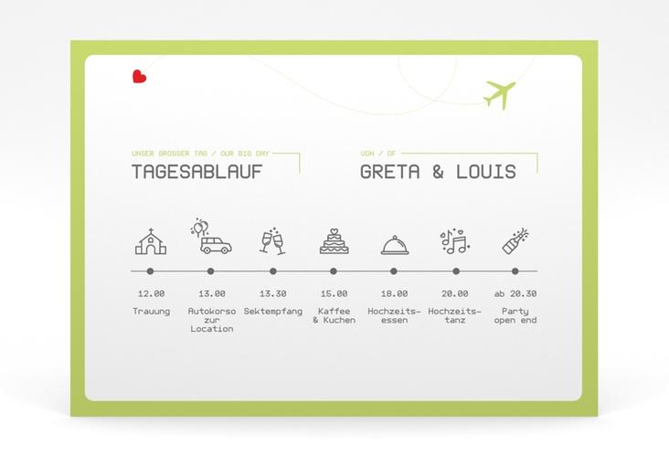 """Tagesablauf Poster Hochzeit """"Weddingpass"""" 70 x 50 cm Poster gruen"""