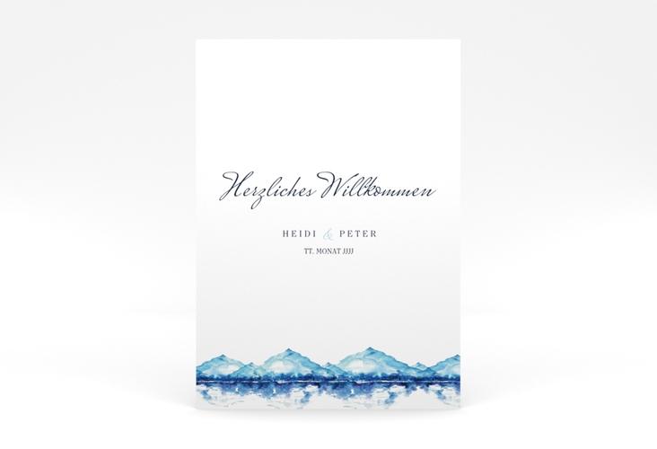 """Willkommensschild Poster """"Bergliebe"""" 50 x 70 cm Poster blau"""