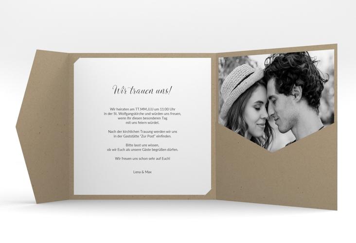 """Hochzeitseinladung """"Herzensbund"""" Pocketfold"""