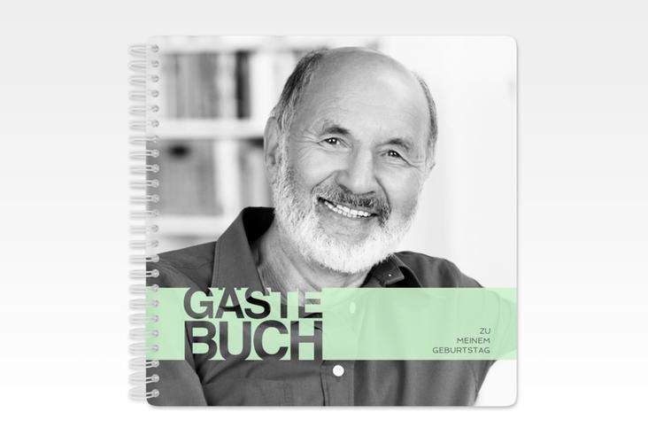 "Gästebuch Geburtstag ""Banderole"" Ringbindung tuerkis"