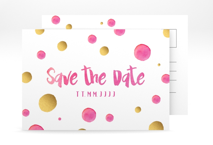 "Save the Date-Postkarte ""Dots"" A6 Postkarte"