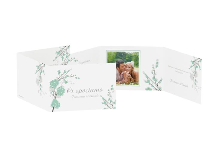 Inviti matrimonio collezione Salerno A6 doppelt geklappt