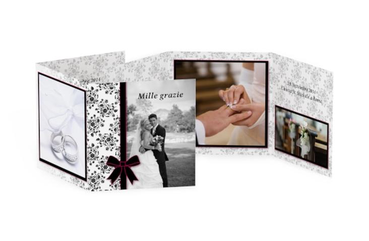 Ringraziamenti matrimonio collezione Bologna Quadr. Karte doppelt