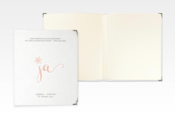 "Hochzeitsalbum ""Snowflake"" 21 x 25 cm apricot"