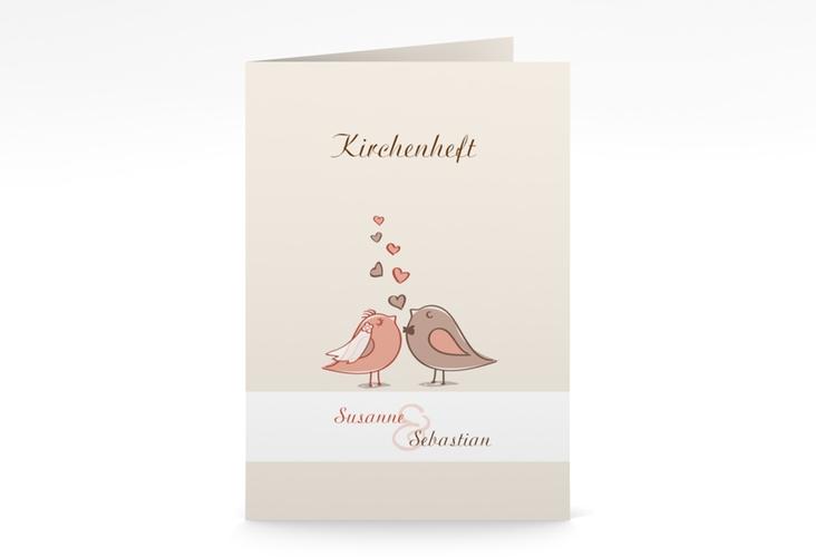 """Kirchenheft Hochzeit """"Venedig"""" DIN A5 geklappt"""