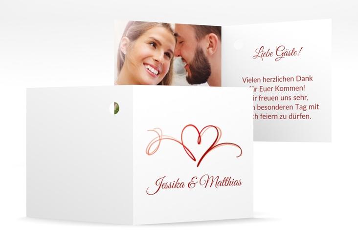 """Geschenkanhänger Hochzeit """"Envie"""" Geschenkanhänger 10er Set rot"""