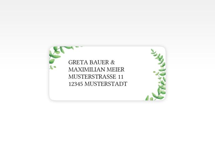"""Absenderetikett Hochzeit """"Botanic"""" 45,7 x 21,2 mm"""