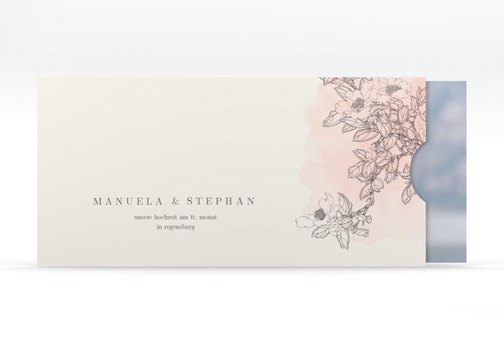 """Hochzeitseinladung """"Artlover"""" Einsteckkarte rosa"""