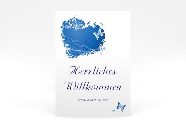 """Willkommensschild Poster """"Mailand"""" 50 x 70 cm Poster blau"""