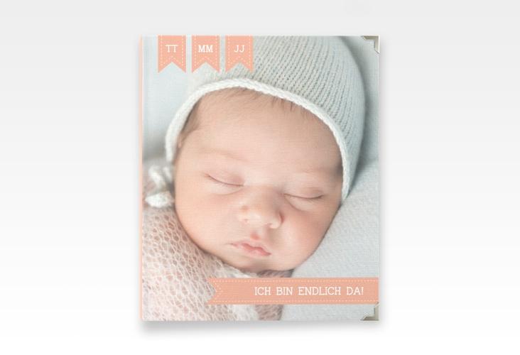 "Baby Fotoalbum ""Kinderlachen"" 21 x 25 cm apricot"