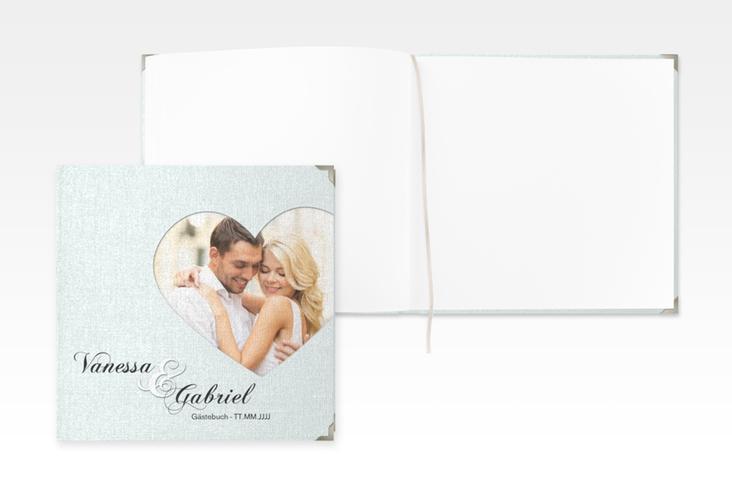"Gästebuch Selection Hochzeit ""Sweetheart"" Leinen-Hardcover tuerkis"