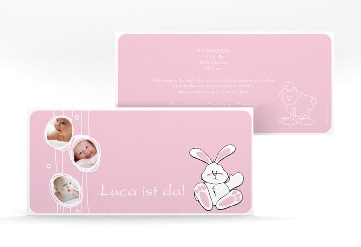 "Geburtskarte ""Hase"" DIN lang"