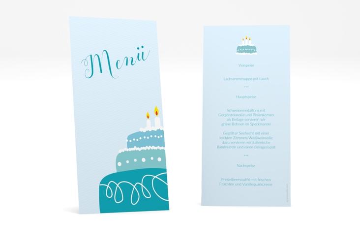"""Menükarte Geburtstag """"Cake"""" DIN lang hoch"""
