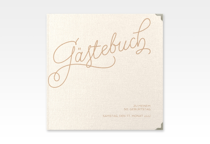 "Gästebuch Selection Geburtstag ""Schwungvoll"" Hardcover beige"
