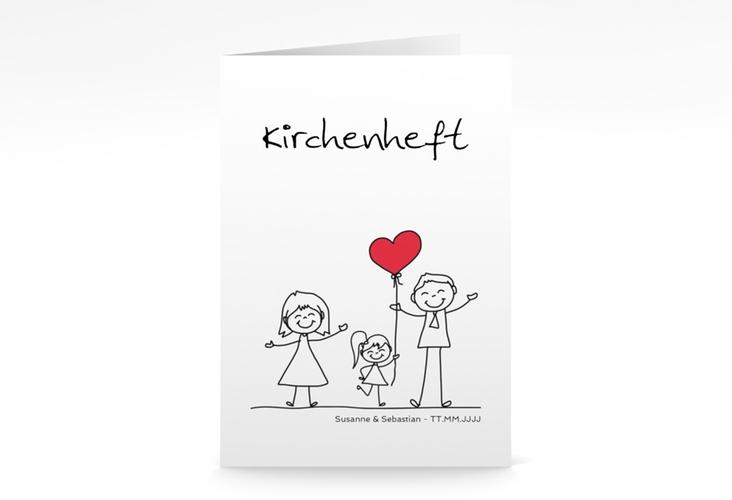 """Kirchenheft Hochzeit """"Familia"""" DIN A5 geklappt weiss"""