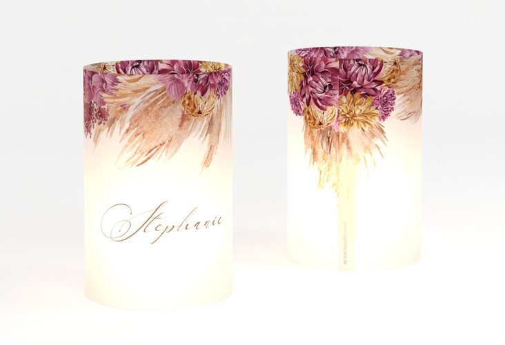 """Windlicht Hochzeit """"Pampas"""" Windlicht weiss"""