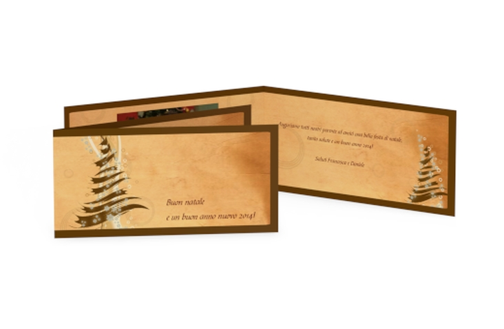Biglietti natalizi albero DIN lang Klappkarte