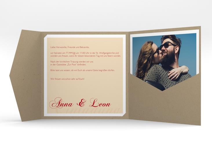 """Hochzeitseinladung """"Collage"""" Pocketfold"""