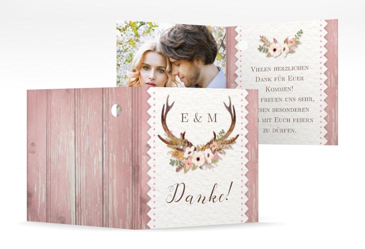 """Geschenkanhänger Hochzeit """"Heimatjuwel"""" Geschenkanhänger 10er Set rosa"""
