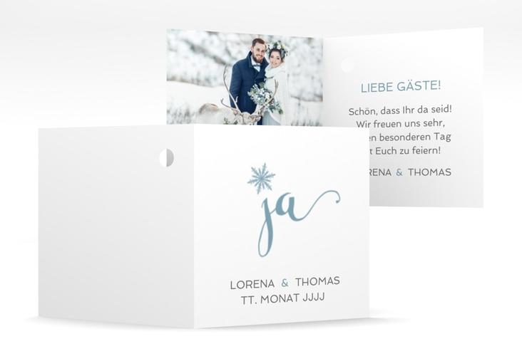 """Geschenkanhänger Hochzeit """"Snowflake"""" Geschenkanhänger 10er Set blau"""
