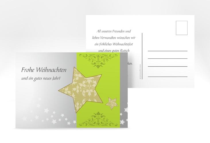 "Weihnachtskarte ""Christstern"" A6 Postkarte"