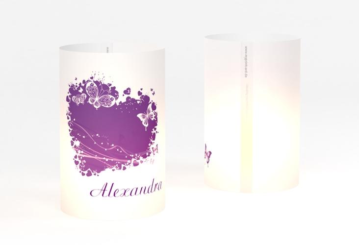 """Windlicht Hochzeit """"Mailand"""" Windlicht lila"""