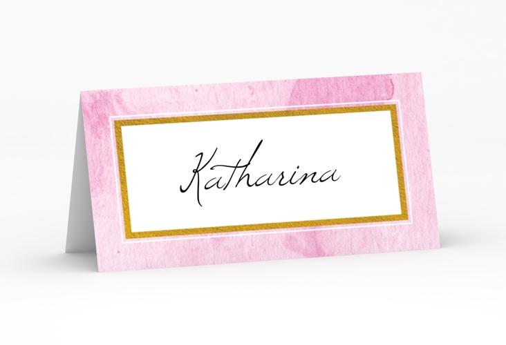 """Tischkarte Hochzeit """"Marble"""" Tischkarten rosa"""