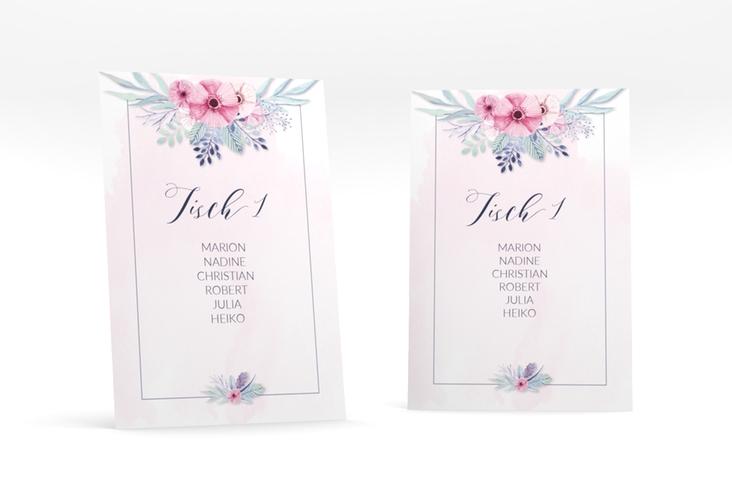 """Tischaufsteller Hochzeit """"Surfinia"""" Tischaufsteller rosa"""