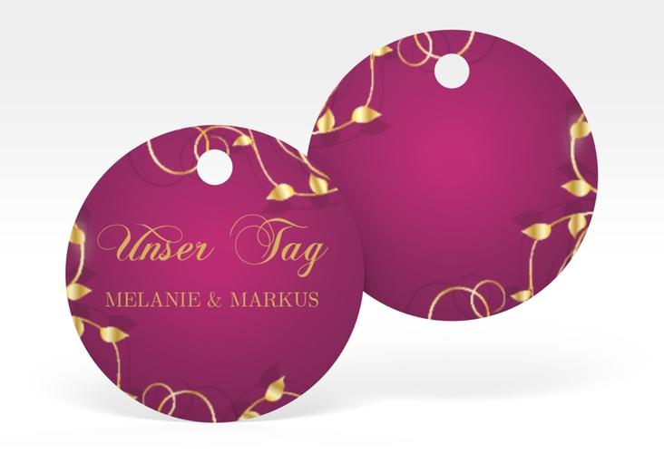 """Geschenkanhänger Hochzeit """"Eternity"""" Geschenkanhänger, rund pink"""