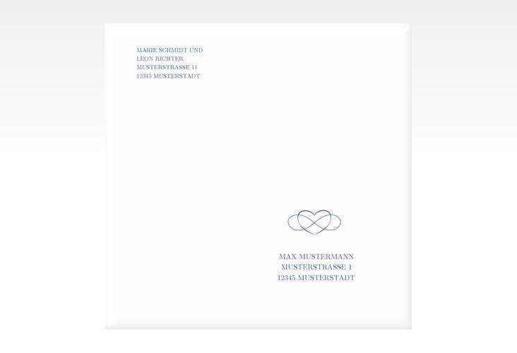 """Kuvert quadratisch """"Infinity"""" Quadratisch"""