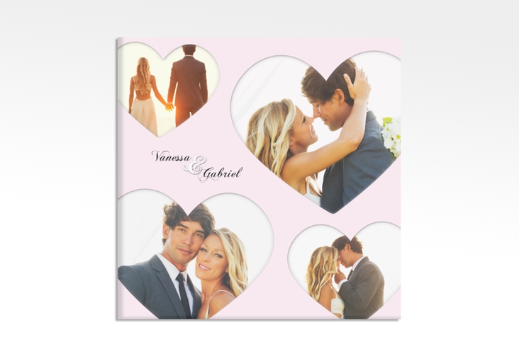 "Hochzeitscollage Leinwand ""Sweetheart"" 30 x 30 cm Leinwand rosa"
