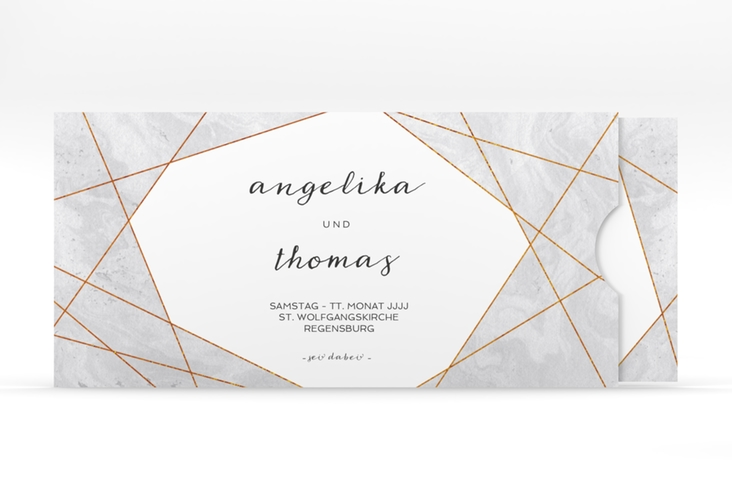 """Hochzeitseinladung """"Asymmetry"""" Einsteckkarte"""