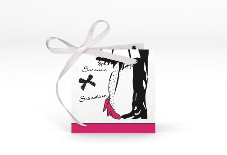 """Geschenkanhänger Hochzeit """"Straßburg"""" Geschenkanhänger 10er Set pink"""