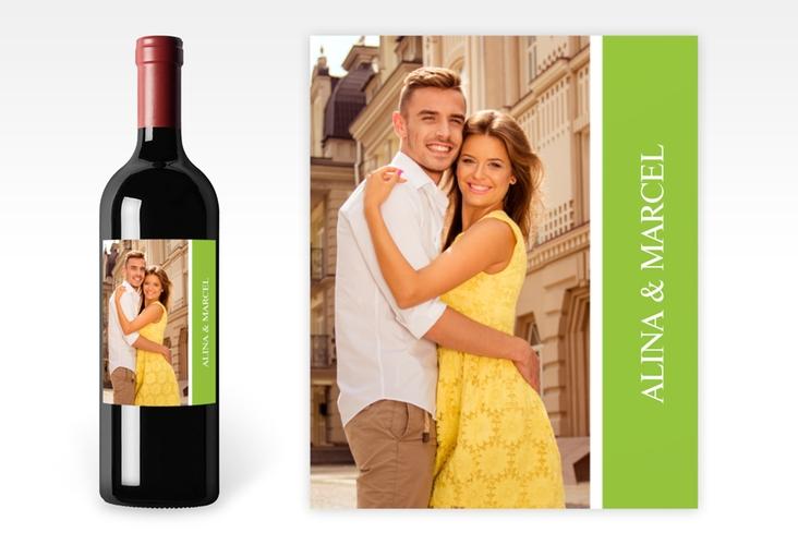 """Weinetikett zur Hochzeit """"Classic"""" Etikett Weinflasche 4er Set"""