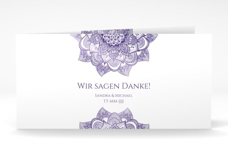 "Danksagungskarte Hochzeit ""Delight"" DIN lang Klappkarte lila"