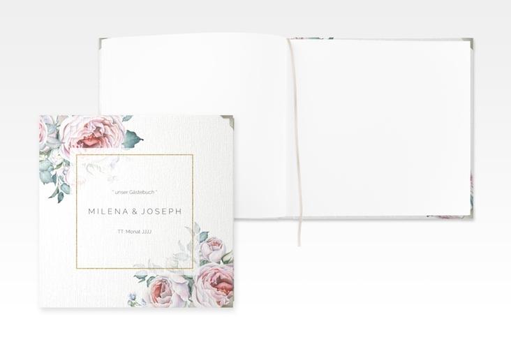 """Gästebuch Selection Hochzeit """"Embrace"""" Leinen-Hardcover weiss"""