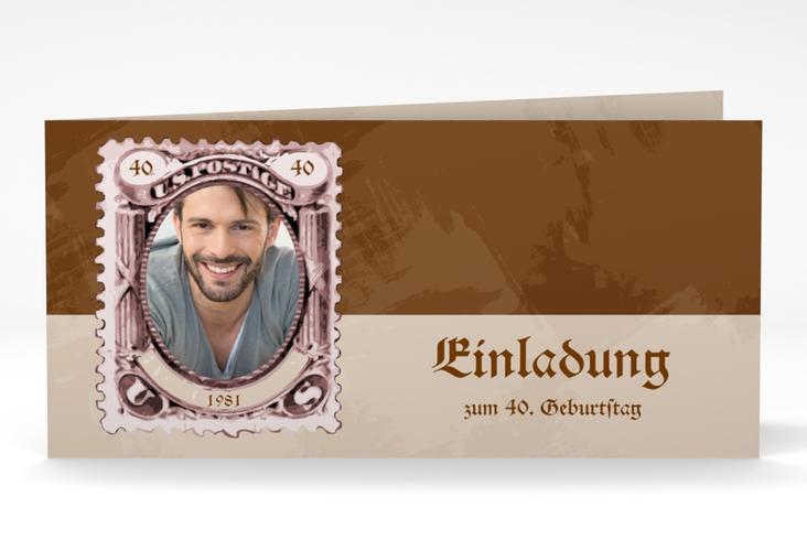 """Einladungskarte """"Ludwig"""" DIN lang Klappkarte"""