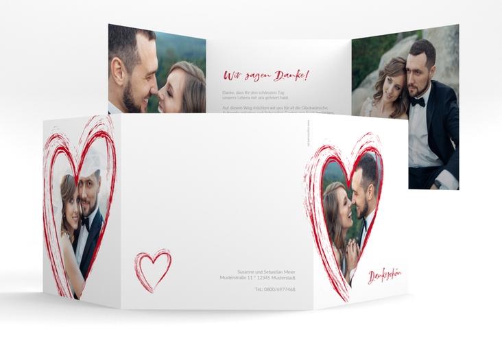 "Dankeskarte Hochzeit ""Liebe"" Quadr. Karte doppelt"