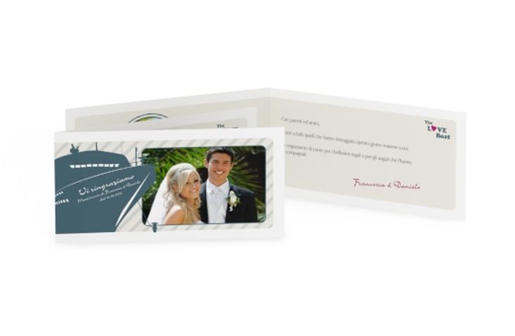 Ringraziamenti matrimonio collezione Maiorca DIN lang Klappkarte