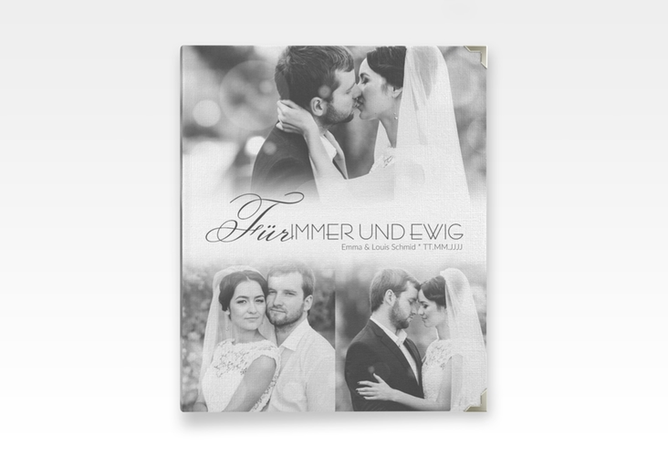 """Hochzeitsalbum """"Bokeh"""" 21 x 25 cm weiss"""