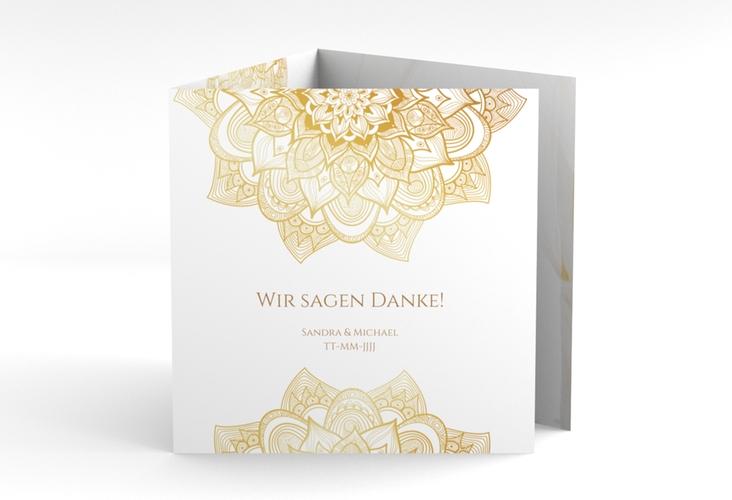 """Dankeskarte Hochzeit """"Delight"""" Quadr. Karte doppelt"""