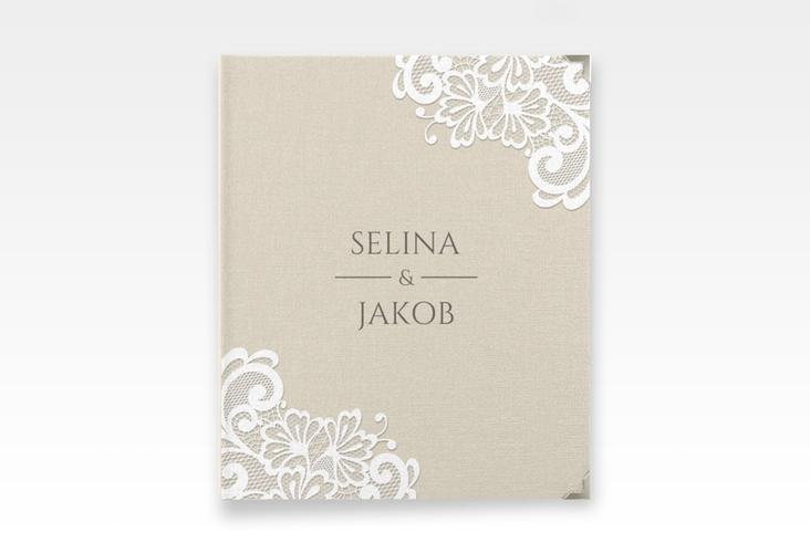 """Hochzeitsalbum """"Vintage"""" 21 x 25 cm beige"""