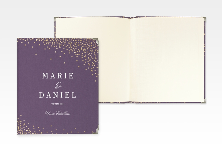 "Hochzeitsalbum ""Glitter"" 21 x 25 cm lila"