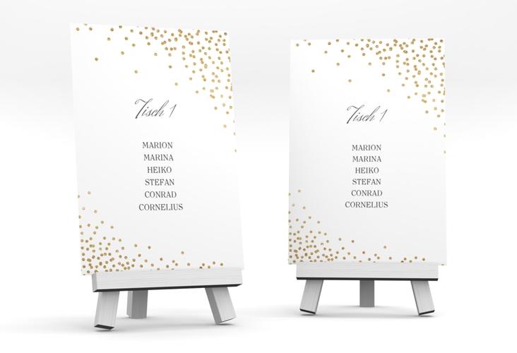 """Tischaufsteller Hochzeit """"Glitter"""" Tischaufsteller weiss"""