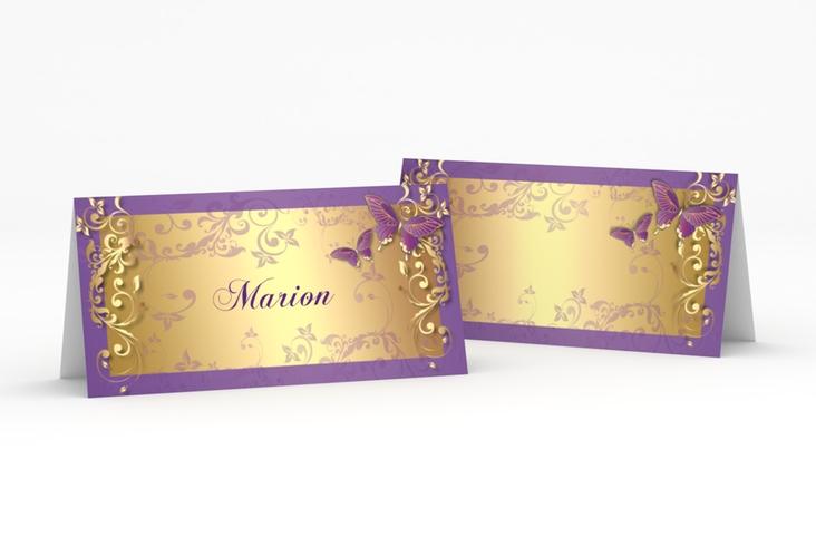 """Tischkarte Hochzeit """"Toulouse"""" Tischkarten lila"""